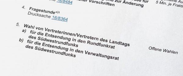 MdL Tobias Wald erneut in den Rundfunkrat gewählt