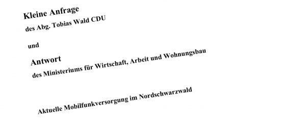 Landtagsabgeordneter Wald setzt sich für zügigen Mobilfunkausbau im Nordschwarzwald ein