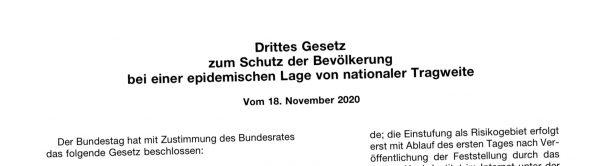 Hintergründe zum 3. Bevölkerungsschutzgesetz